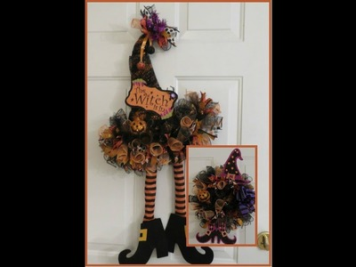 Tricia's Creations: Halloween Witchy Hat Wreath with Bonus Craft!
