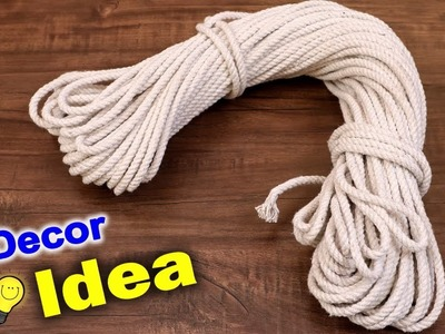 Wall Decor Craft Idea ???? Rope ???? || Wall hanging Showpiece Making at Home || DIY Home Decor Craft
