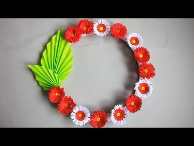 Wall Decoration Ideas 19| Beautiful Wall Hanging Making at Home | Paper Flower Wall Hanging. 79