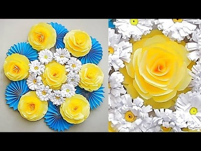 Wall Decoration Ideas 52   Beautiful Wall Hanging Making at Home   Paper Flower Wall Hanging. 3