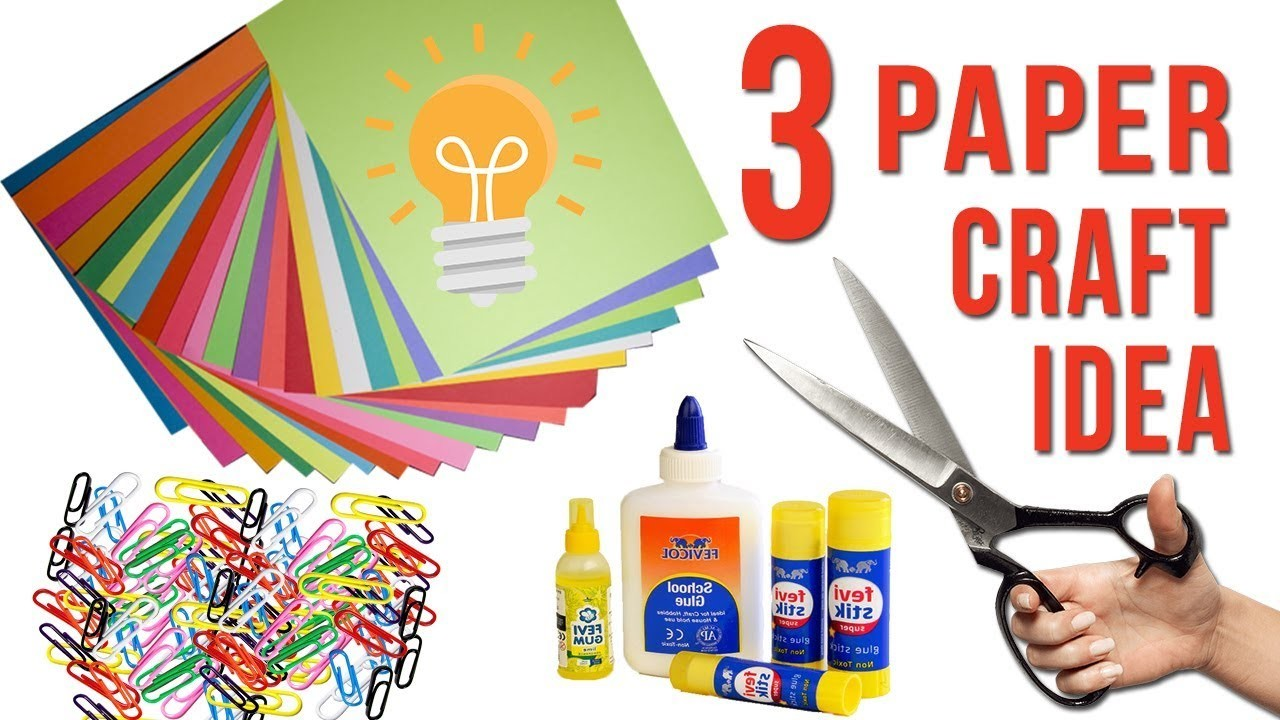 3 Craft idea with Color Paper   DIY Best Idea with Paper   Home Decor