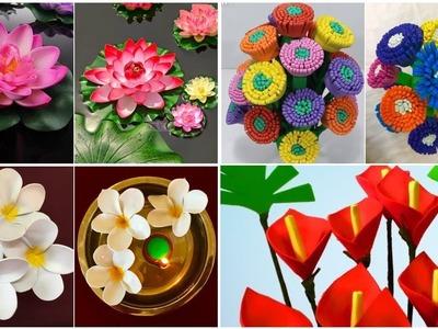 4 Foam Sheet Craft Ideas   Diy Foam Sheet Flowers   Foam Crafts Step by Step