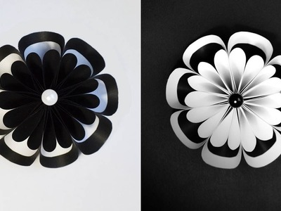 Amazing Paper Flower | White and black Origami Craft Tutorial DIY