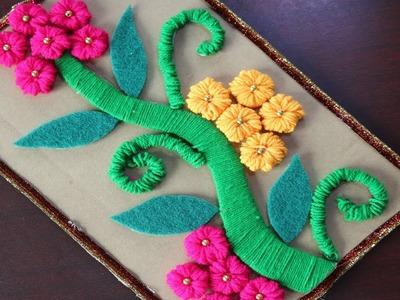 Amazing Woolen Craft || Latest Woolen Design to Make Woolen Showpiece - DIY arts and crafts