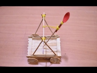 Art and Craft ideas | How to Make Popsicle Stick or IceCream Stick Miniature Toy | Cataoult Model