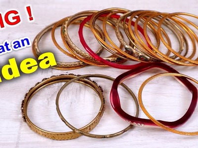 Bangles Craft Idea | Best Out of Waste | DIY Wall Hanging Craft | DIY Wall Decor | Handmade Craft