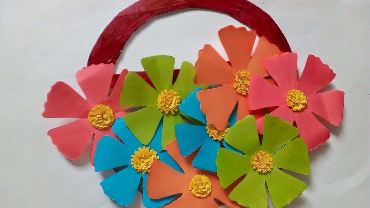 Beautiful Paper Wall Hanging Craft Ideas 6 Diy Paper Flower Basket