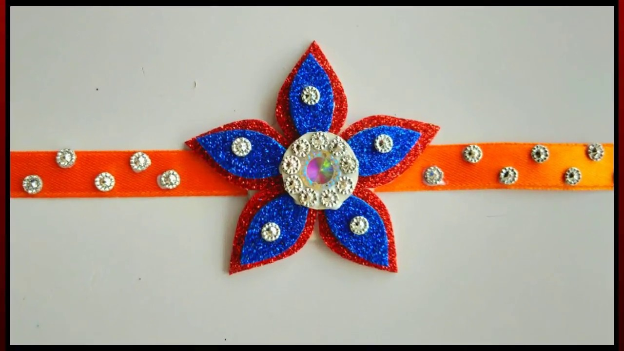 BEAUTIFUL RAKHI CRAFT FOR SCHOOL PROJECT || AWESOME RAKHI MAKING AT HOME || DIY RAKHI CRAFT TUTORIAL