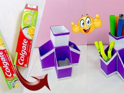 Best craft idea | Reuse Colgate pack | DIY organizer | Amazing life hacks