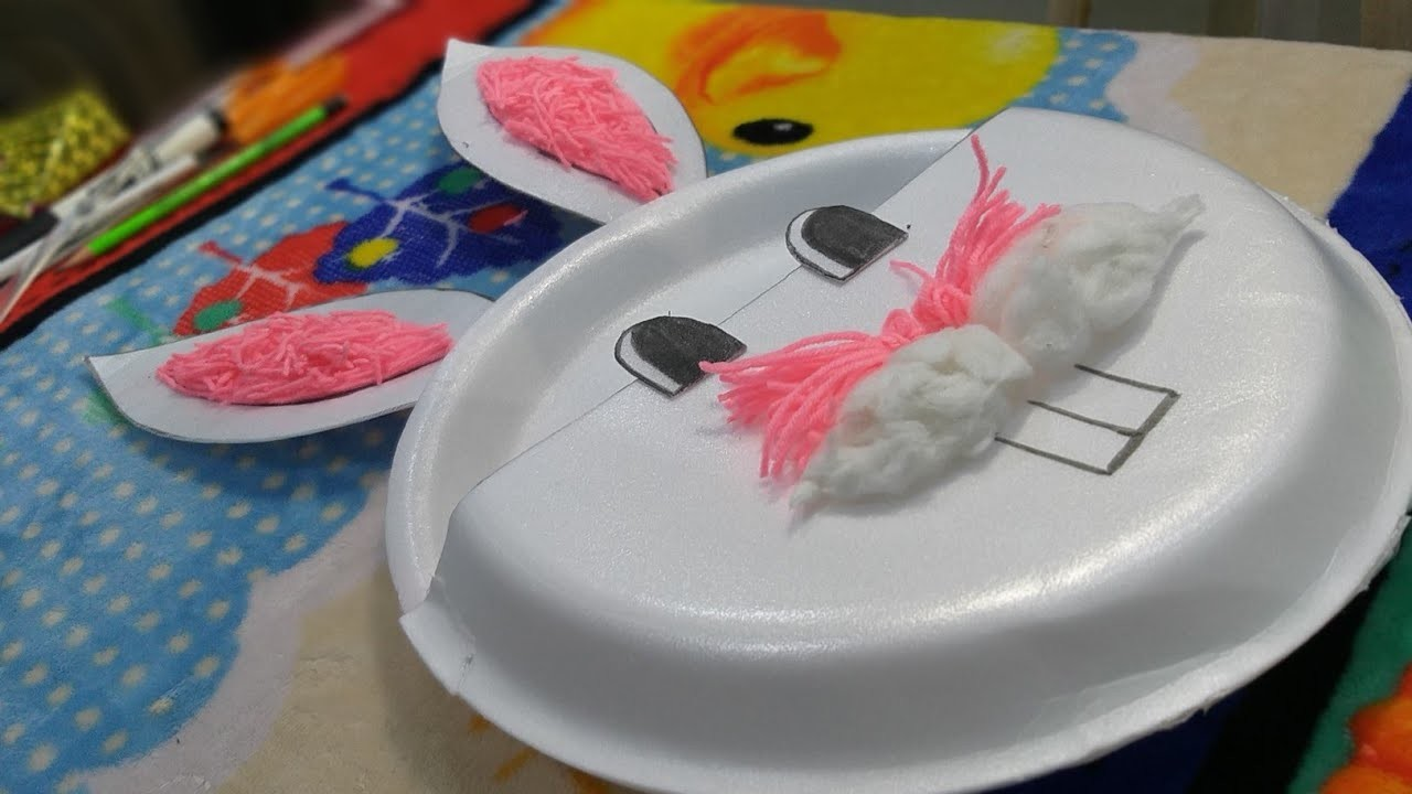 Best out of Waste - DIY Easy craft Video || rabbit face Craft idea || Art and crafts - Desi Arts