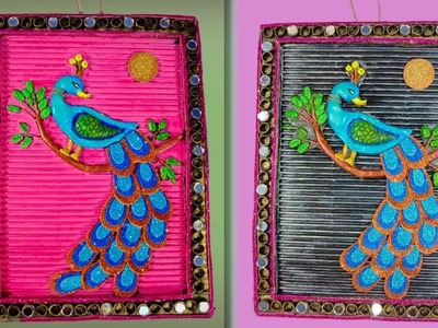 Best out of waste peacock wall hanging craft | home decor idea | Handmade craft idea