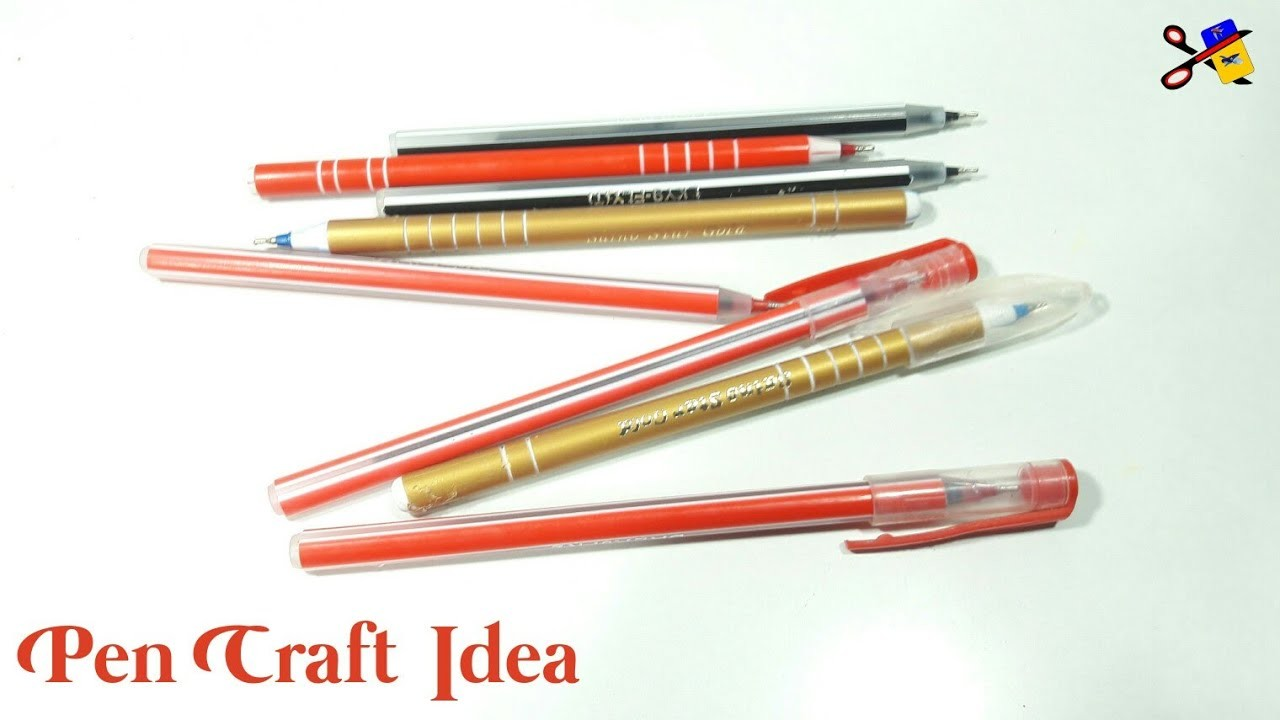Best Out Of Waste Pen And Pen Cap Craft | Reuse Waste Pen Cap | Waste Pen Craft Idea