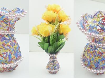 Best Out Of Waste Plastic Bottle Flower Vase. DIY. Plastic Bottle Craft Idea