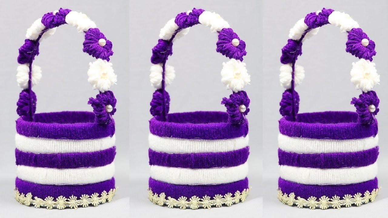 Best Out Of Waste Water Bottle Craft Plastic Bottle Basket Craft