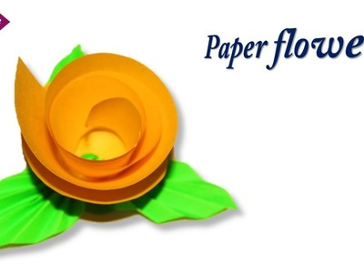 Craft Care how to make paper round flower || paper craft # best DIY * easy paper flower