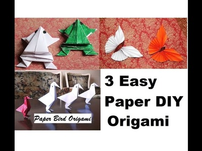 DIY - 3 EASY-TO-MAKE ORIGAMI PAPER DIYs | Craft Videos | Art All The Way