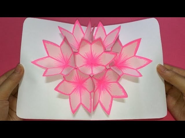 Simple diy 3d flower pop up card easy paper crafts handmade simple diy 3d flower pop up card easy paper crafts handmade craft diy 3d flower pop up card mightylinksfo