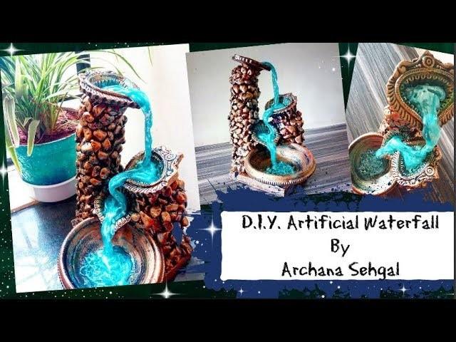Diy Artificial Waterfall Using Hot Glue Gun Glue Gun Crafts