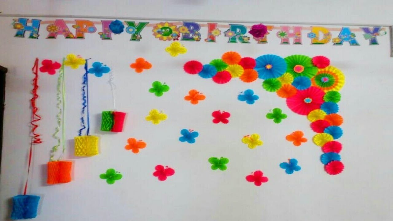 Diy Birthday Decoration Ideas Wall Decoration Paper Craft