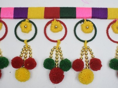 DIY Cool Craft - Best out of waste Bangles and Wool Craft Idea. DIY Door Hanging Toran from Woolen