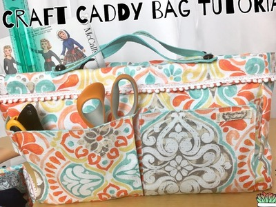 Diy craft bag, Craft Caddy tutorials. Sewing project No.31