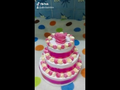 Diy craft cake