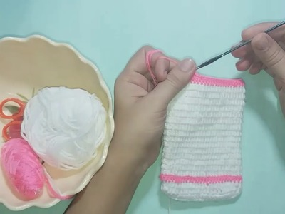 DIY Craft - How to crochet easy mobile pouch | Crochet craft