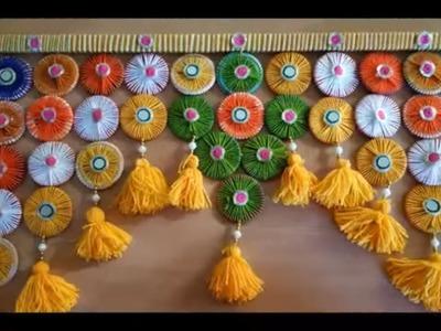 Diy Door Toran Hanging Craft Ideas  ll AWESOME DOOR HANGING TORAN FROM WASTE HAIRBANDS and Bangles