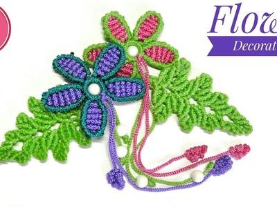 DIY | Flower Decoration Tutorial - EASY Macrame Craft
