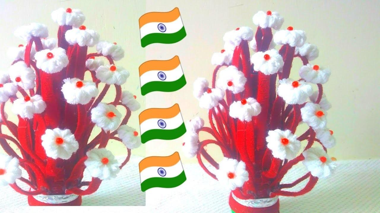 DIY- Guldasta | How to Make Woolen Flower Pot | Woolen Craft | Best Craft Ideas 2018
