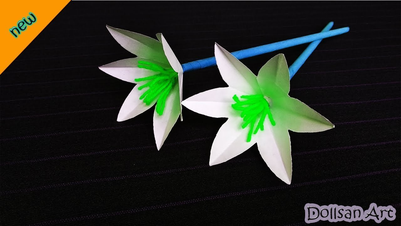 DIY | How to Make Lily paper Flowers | Very Easy paper craft idea