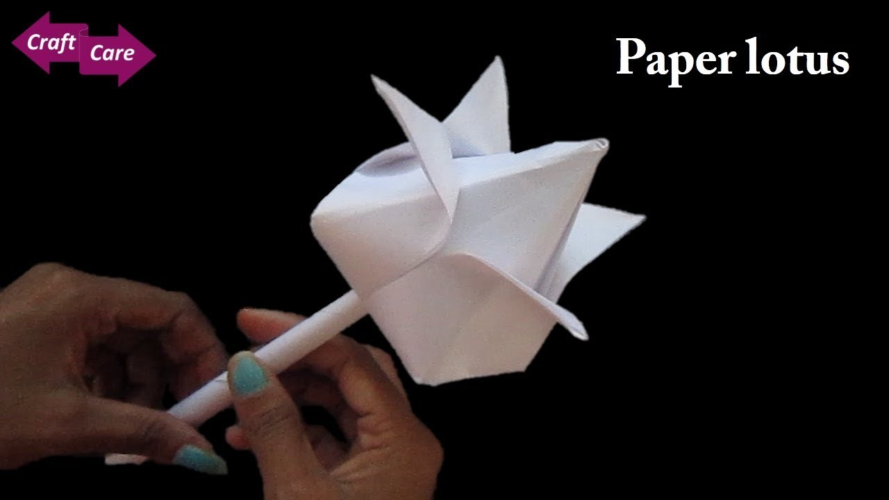 Craft Diy How To Make Lotus Flower With Paper Paper Flower