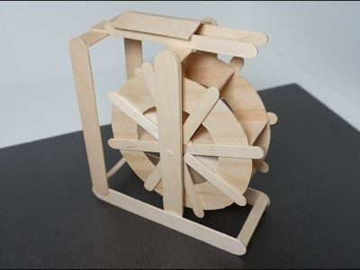 DIY How to Make  Popsicle Stick Water Wheel. Craft Ideas miniature