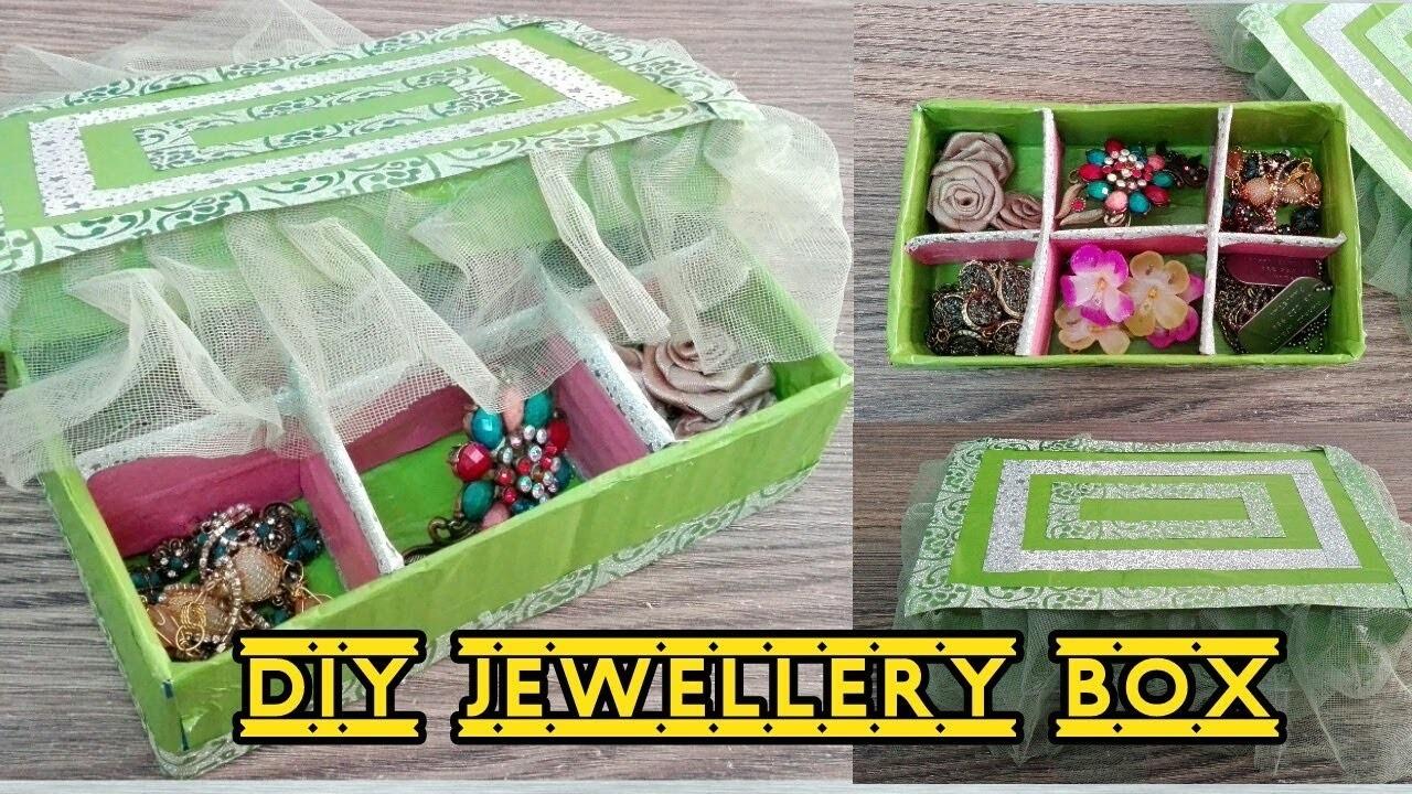 Diy Jewellery Box Cardboard Craft Creative Ideas For You
