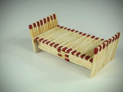 DIY Miniature Bed (Made with Match Sticks!) - Matchstick Art and Craft