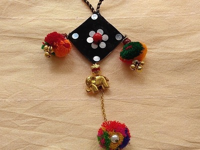DIY Necklace How to make Navratri Jewellery.Ornaments I Navratri Craft
