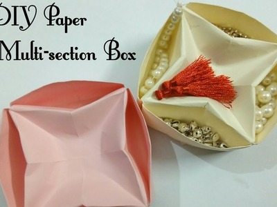 DIY ORIGAMI :Paper Multi Sections Box |Easy Paper crafts | Art, Craft and Health