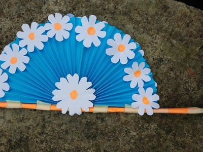 DIY Paper Craft How To Make Diy Hand  Fan Out Of Color Papers DIY