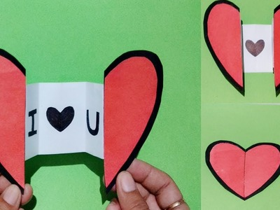 DIY : Paper Craft.How to make Paper Heart with message - Origami easy. diy art and craft.Art Gallery