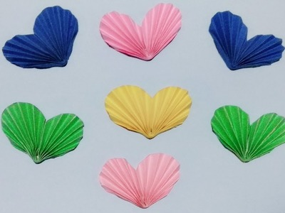DIY : Paper Craft.How to make Origami 3D Heart for Valentine Decoration.DIY Paper Craft.Art Gallery
