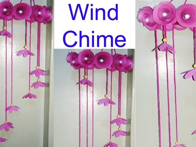 DIY : Paper Craft.How to make Wind Chime with Rose Paper Flowers.diy art and craft.Creative Art