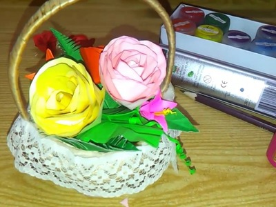 DIY Paper Rose creation: Paper craft RoseTutorial