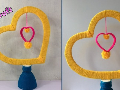 DIY plastic bottle and woolen craft idea   best out of waste   plastic bottle reuse idea   woolen