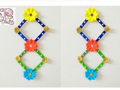 DIY :: Pop stick craft ideas || Wall hanging  making at home || poppyalley