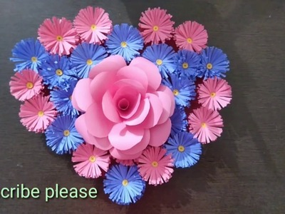 Diy.simple home decor.wall door decoration.hanging flower.paper craft ideas.