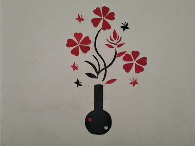 DIY - Simple wall sticker craft.paper craft at home.