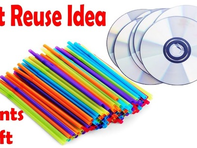 DIY Straw 2Mints Craft | Awesome Drinking Straw Ideas || Straw Pen Holder.Desk Mini Organizer