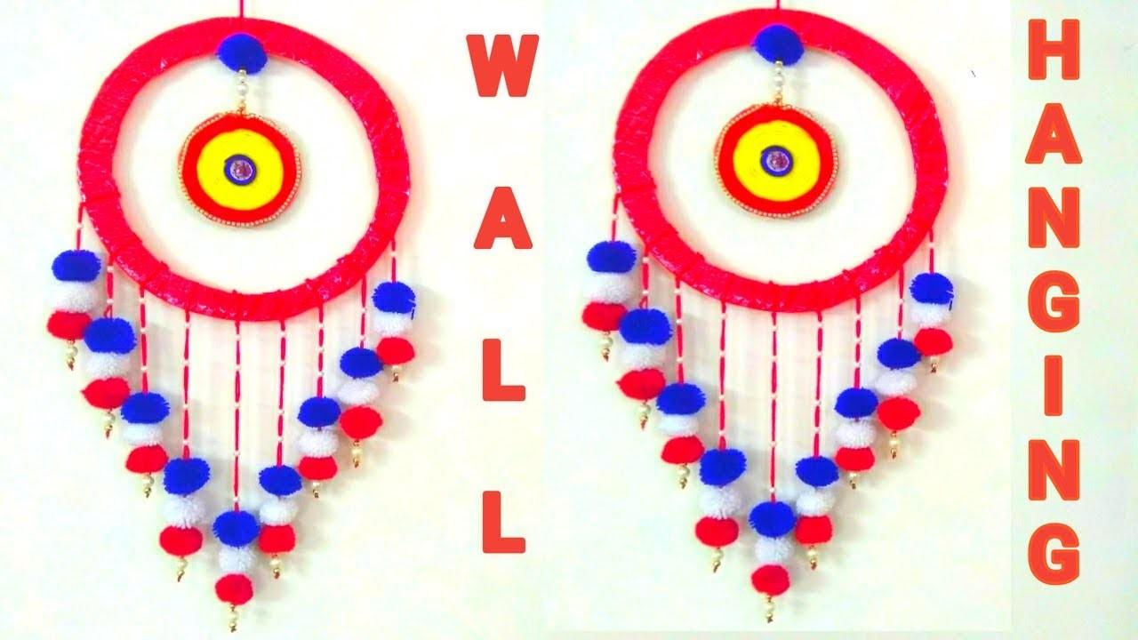 DIY-  Wall Hanging Craft Ideas || Diy Wool Pom Pom Wall Hanging || Wall Decor at home