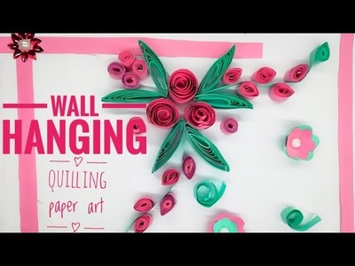 DIY wall hanging paper craft idea || curling paper art