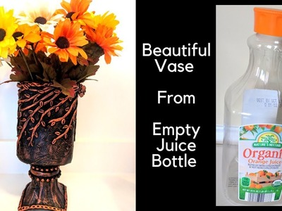 DIY waste Bottle Art   Beautiful Vase with Bottle   Waste Plastic Bottle Craft Ideas